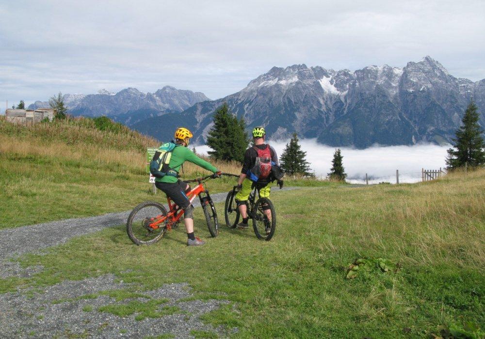 På mountainbike i Saalbach-Hinterglemm og Leogang, Østrig
